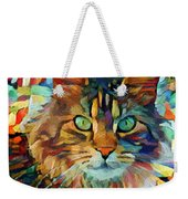 Cat On Colors Weekender Tote Bag