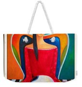 Cat On My Lap Weekender Tote Bag