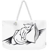 Cat On Pillow Weekender Tote Bag