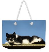 Cat On The Roof Weekender Tote Bag