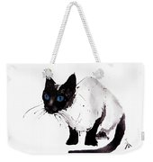 Cat Painting Weekender Tote Bag