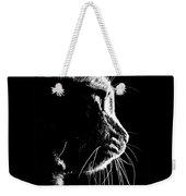 Cat Silhoette Weekender Tote Bag
