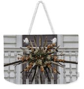 Cat Tail And Chinese Lantern Wreath Weekender Tote Bag