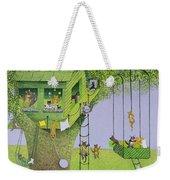 Cat Tree House Weekender Tote Bag