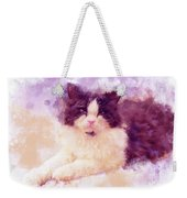 Cat Watercolor Weekender Tote Bag