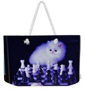 Cat With Chess Board Anbd Mouse Weekender Tote Bag