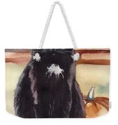Cat With The Pumpkin Weekender Tote Bag