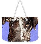 Catahoula Leopard Dog - Soulful Eyes Weekender Tote Bag by Sharon Cummings