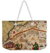 Catalan Map Of Europe And North Africa Charles V Of France In 1381  Weekender Tote Bag by Abraham Cresques