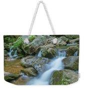 Catawba Stream Cascades At High Shoals Falls In North Carolina Weekender Tote Bag by Ranjay Mitra