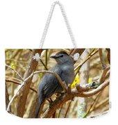 Catbird In Spring Weekender Tote Bag