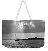 Catboat In Barnstable Harbor Weekender Tote Bag