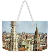Cathedral And Campanile Milan Italy Weekender Tote Bag