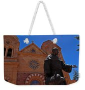Cathedral Basilica In Santa Fe Weekender Tote Bag