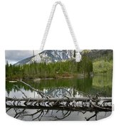 Cathedral Group Reflection On String Lake Weekender Tote Bag