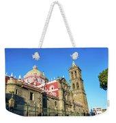 Cathedral In Puebla, Mexico Weekender Tote Bag