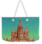 Cathedral Of St. Basil, Moscow Russia Weekender Tote Bag
