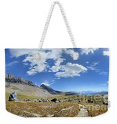 Cathedral Peak Over Waterton Valley Trail - Glacier National Park Weekender Tote Bag