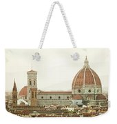 Cathedral Santa Maria Del Fiore At Sunset, Florence. Weekender Tote Bag