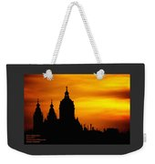 Cathedral Silhouette Sunset Fantasy L A Weekender Tote Bag