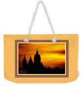 Cathedral Silhouette Sunset Fantasy L A With Alt. Decorative Ornate Printed Frame. Weekender Tote Bag