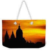 Cathedral Silhouette Sunset Fantasy L B Weekender Tote Bag