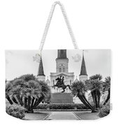 Catholic Basilica Jackson Sq Andrew Jackson New Orleans  Weekender Tote Bag