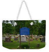 Catholic Cemetery Weekender Tote Bag