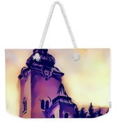 Catholic Church Building, Architectural Dominant Of The City, Graphic From Painting. Weekender Tote Bag