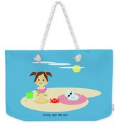 Cathy And The Cat Have A New Friend Weekender Tote Bag