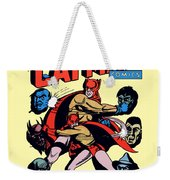 Catman And Kitten Square Format Weekender Tote Bag