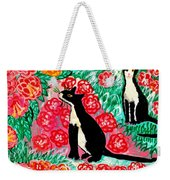 Cats And Roses Weekender Tote Bag