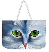 Cat Eyes Blue Weekender Tote Bag