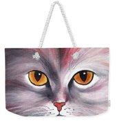Cat Eyes Red Weekender Tote Bag