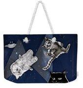 Cats In Space Weekender Tote Bag