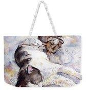 Cats In Watercolor Weekender Tote Bag