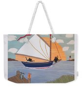 Cats On Cat Boat Weekender Tote Bag