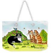 Cats Talking In A Sunny Garden Weekender Tote Bag