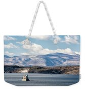 Catskill Mountains With Lighthouse Weekender Tote Bag by Nancy De Flon