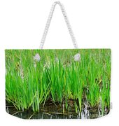 Cattail Green Weekender Tote Bag