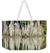 Cattail Reflection Weekender Tote Bag