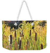 Cattails And Barn Weekender Tote Bag