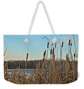 Cattails At Skymount Pond Pa Weekender Tote Bag