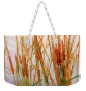 Cattails By The Lake Weekender Tote Bag