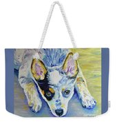 Cattle Dog Puppy Weekender Tote Bag