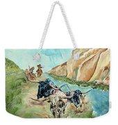 Cattle Drive Weekender Tote Bag
