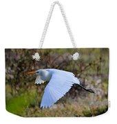 Cattle Egret In Flight Weekender Tote Bag