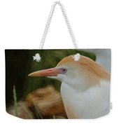 Cattle Egrets Dry Brushed Weekender Tote Bag