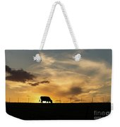 Cattle Sunset Silhouette Weekender Tote Bag