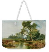 Cattle Watering Weekender Tote Bag